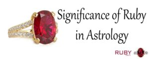 Astrological significance of ruby