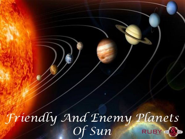 Friendly and enemy planets of Sun