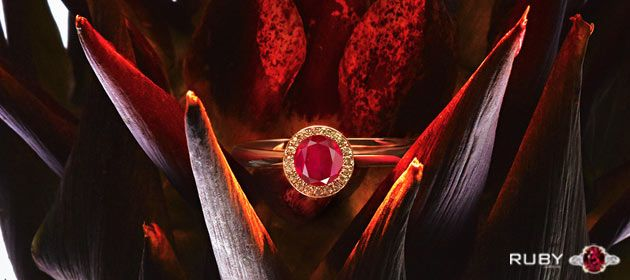 Gift Ruby Gemstone As Engagement Ring