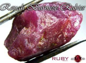 Rough Burmese Ruby