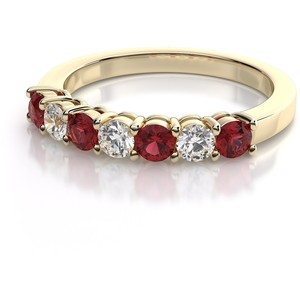 Ruby Gemstone Anniversary Ring