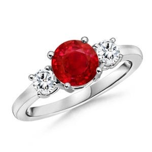 Ruby Gemstone Birthday Ring