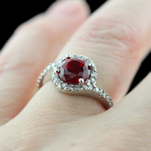 Ruby Gemstone Wedding Rings