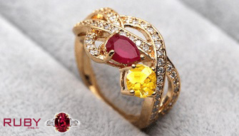 Wearing Yellow Sapphire and Ruby